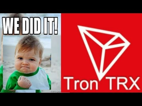 TRON DID IT! Cryptos Like TRX Will Lead Us Into A Decentralized Future
