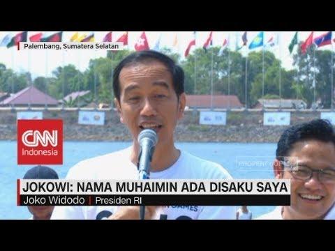 Jokowi: Nama Muhaimin Ada di Saku Saya
