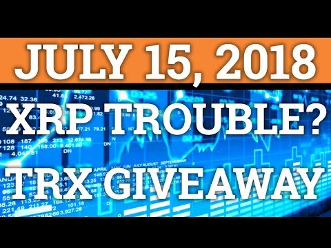 RIPPLE HAS COMPETITION? TRON $25,000 GIVEAWAY! XRP, TRX, BITCOIN BTC PRICE + CRYPTOCURRENCY NEWS