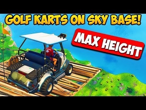 *MAX HEIGHT* GOLF KART SKY BASE! – Fortnite Funny Fails and WTF Moments! #259 (Daily Moments)