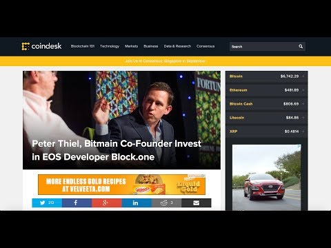 EOS $$$ Billionaires Investors Peter Thiel and Bitmain Jihan Wu invest in EOS block one