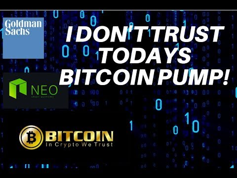 Bitcoin pump! NEO forecast! Goldman Sachs getting serious about crypto!