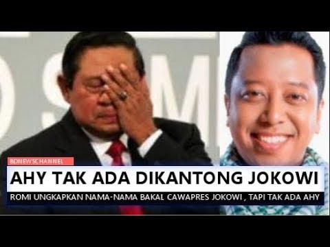 N4NG!S DEH..AHY T4K ADA DK4NTONG J0K0WI | Romi Ungkap Cawapres Jokowi