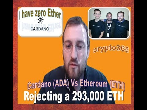 Cardano (ADA) Founder REJECTED 293.000 ETHEREUM