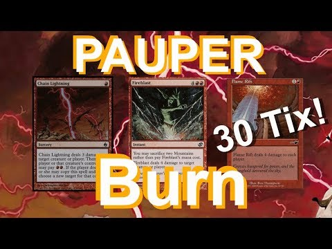 Pauper Burn for 30 Tix! Day 2 on a Dime