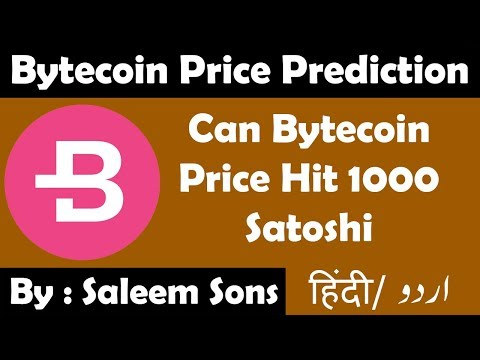 Bytecoin Price Prediction | Can BCN Price Hit 1000 Satoshi | By Saleem Sons