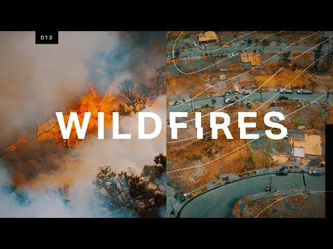 What wildfire devastation looks like from above