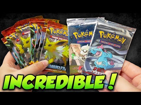 INCREDIBLE Vintage Pokemon Pulls HS Undaunted & Wotc Neo Booster Packs!
