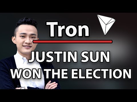 Tron (TRX) Justin Sun Won The SR Election.. What Now?