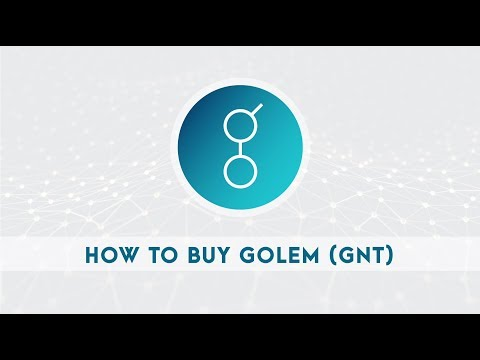 HOW TO BUY GOLEM (GNT) COIN