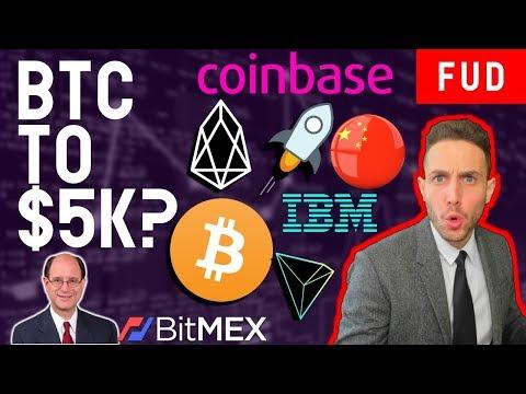 BITCOIN TO $5K? MAKE CRYPTO ILLEGAL? | EOS TRON XLM COINBASE ROBINHOOD HT