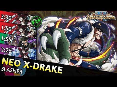 [OPTC] Neo X-Drake Colosseum | Slasher Only (F2P, TM Mihawk, 6+ Zoro, 6+ Mihawk)