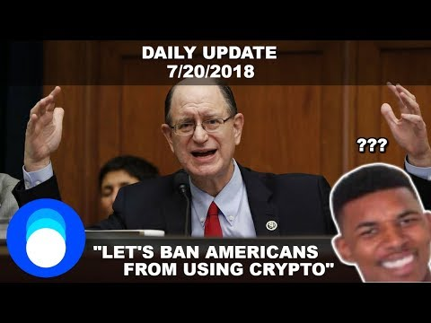 Can The Government Ban Us From Using Cryptocurrency? This Guy Thinks So Daily Crypto News 7/20/2018