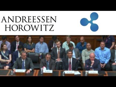 Ripple Investor Andreessen Horowitz Speaks at U.S. Public Hearings.
