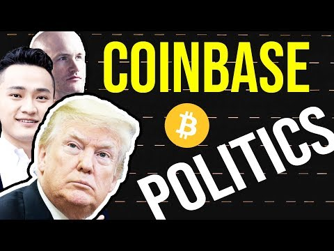 Coinbase Goes Political, Tron DPOS, Bitcoin Virus, Exchanges