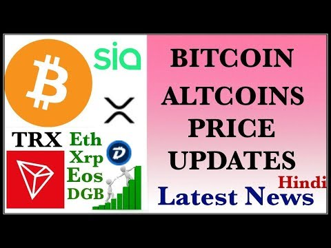 TRON SIA DGB RIPPLE ETHEREUM EOS ADA LITECOIN BITCOIN BTC PRICE UPDATES HINDI LATEST NEWS