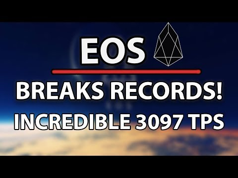 EOS Breaks Records With Incredible 3097 TPS! Is It Faster Than Visa?