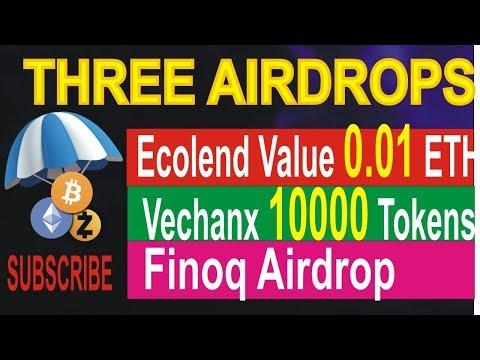 Three New Airdrops | Ecolend Airdrop 0.01 ETH | Vechainx Airdrop 10000 | Finoq Airdrop | Hindi/Urdu