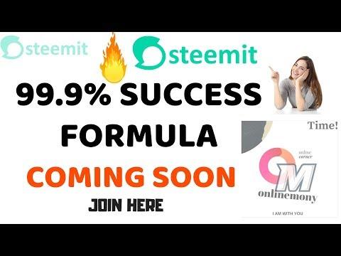 Steemit success formula coming soon ???