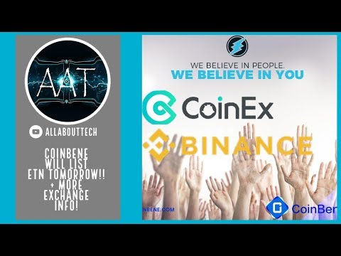 CoinBene will list Electroneum TOMORROW! + Binance and CoinEx Vote INFO!!