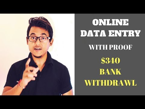 Data Entry Jobs Site – Proof I Earned $340 Bank Withdrawl