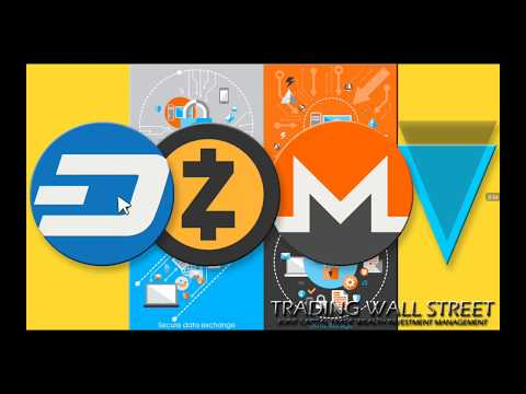 #DASH #ZCASH #MONERO #VERGE #CRYPTOTRADING MARDI 24 JUILLET 2018 #PRIVACY COINS