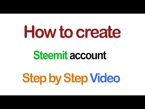 How to create Steemit account