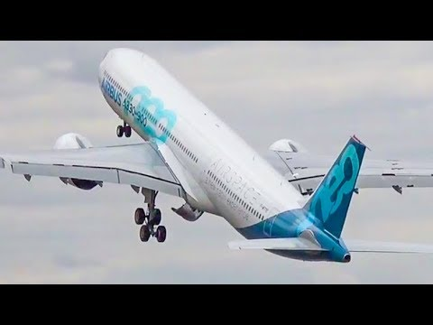 Amazing AIRBUS A330 NEO AIR SHOW – Farnborough Air Show 2018 (4K)
