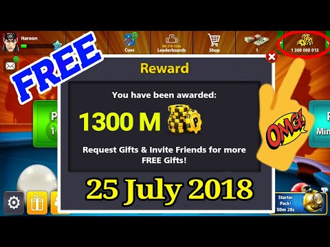 OMG _ 1300 Million Coin Get In 8 Ball Pool Just One Minutes | (New Coin Trick )