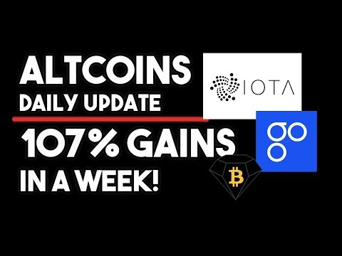 Altcoins Daily Update – 107% Gains In A Week! Bitcoin Diamond, IOTA & Omise Go