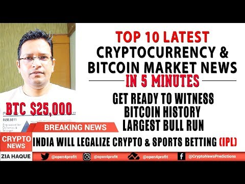 ?Witness BITCOIN HISTORY – LARGEST BULL RUN SOON. India to legalize Cryptocurrency & Sports Betting