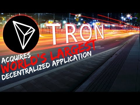 TRON Acquires World's LARGEST Decentralized Application – Today's Crypto News