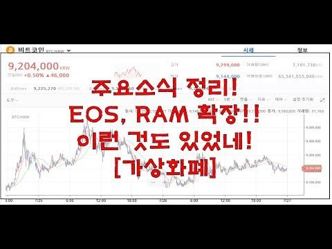 [가상화폐] 주요소식 정리! EOS, RAM 확장!!
