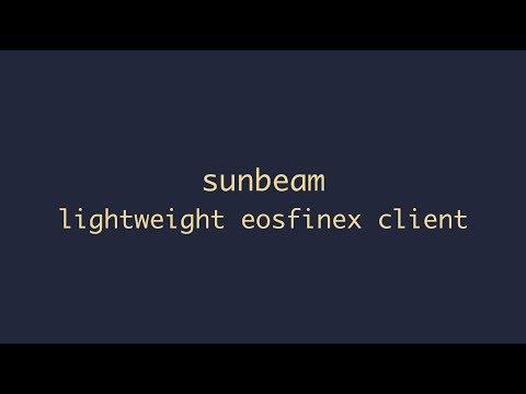 SunBeam – Powering Decentralised Exchange on EOS