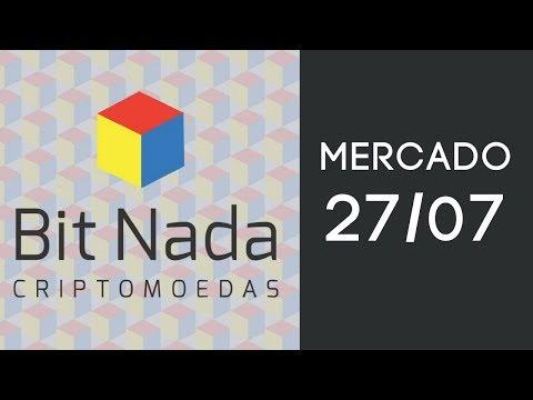 Mercado de Cripto! 27/07 Bitcoin em queda / EFT / EOS / Mastercard