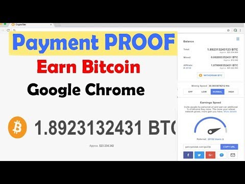 Earn Bitcoin Mining (part 2) (Payment PROOF) using Google Chrome – April 2018