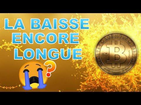 BITCOIN LA BAISSE ENCORE LONGUE !!!? BTC analyse technique crypto monnaie