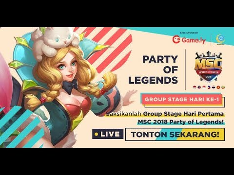 [LIVE] Fantasy vs RRQ   ML SOUTHEAST ASIA CUP 2018 DAY 2 (ADA GIVEAWAY)