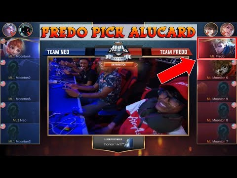 Wow Fredo First Pick Alucard !! Team Fredo Vs Team Neo !! | Show Match MPL