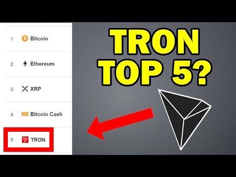 TRON (TRX) – NEW TOP 5 COIN?