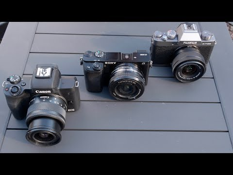 Entry-Level APS-C Mirrorless Cameras (Canon EOS M50, Sony a6000, and Fujifilm X-T100)
