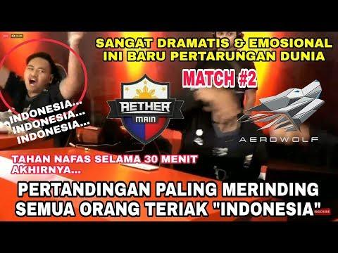 """Pertandingan paling bikin merinding, Teriakan """"Indonesia"""" ada di mana2 setelah AEROWOLF menang"""