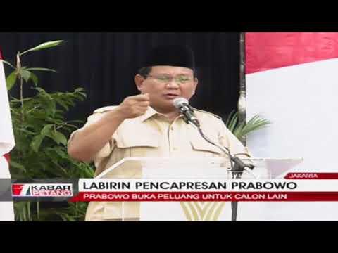 Prabowo: Jika Ada Calon Lain Yang Lebih Baik, Saya Siap Dukung!