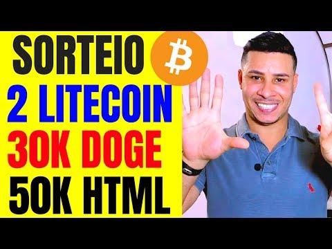 ? SORTEIO: Como GANHAR R$ 1.000 Com BITCOIN | ? 2 LITECOIN, 30K DOGE, 50K HTMLCOIN!!