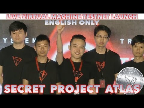 Justin Sun Live | Tron Virtual Machine Testnet launch & New Project Atlas |  English
