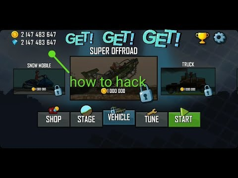 hill climb racing  hack unlimited coin and gems O.M.G.