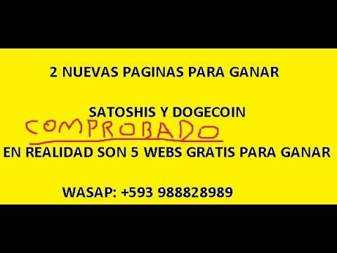 2 FORMAS DE GANAR SATOSHIS Y DOGECOIN GRATIS – NO DEJES DE VER EL VÍDEO