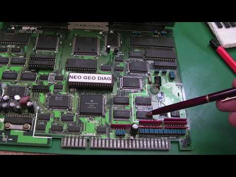 SNK Neo Geo MV-1FZ (MVS) Backup RAM & Palette RAM Repair (Not the usual suspects…)