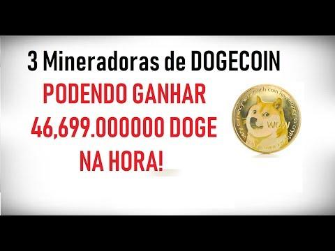 3 Mineradoras de DOGECOIN – Possibilidade de ganho de 46,699.000000 DOGE NA HORA!