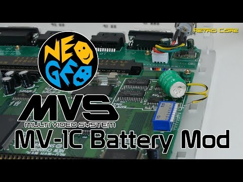 Neo Geo MVS MV-1C Battery Mod – 4K